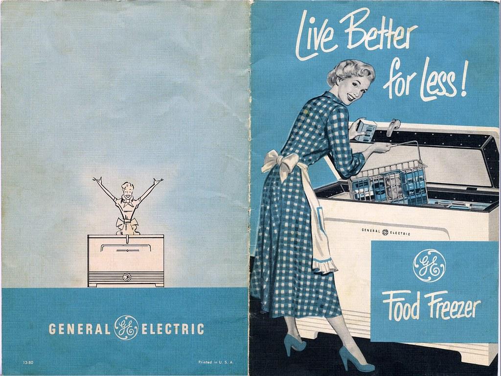 vintage ge freezer owners manual cover sheet 1 side flickr rh flickr com GE Manual 7-4801A GE TV Manuals