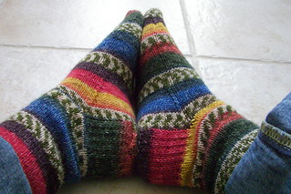 Self-striping socks | by Twisted Knitter