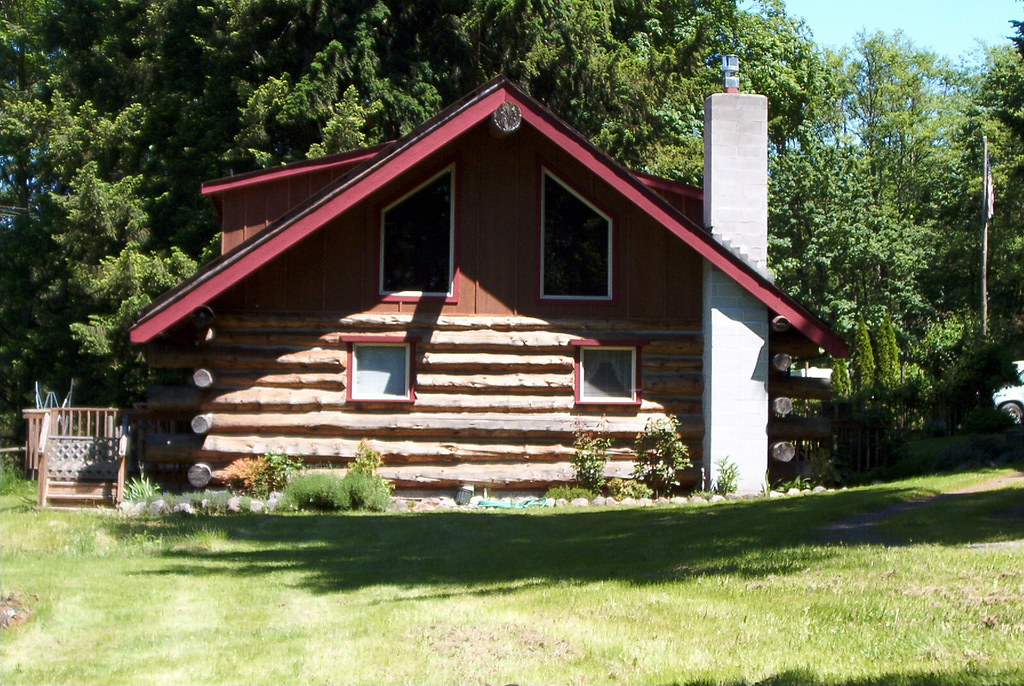 Butt and pass style log home zachary smith flickr for Butt and pass log home