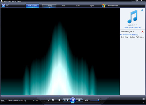 how to change the color of windows media player