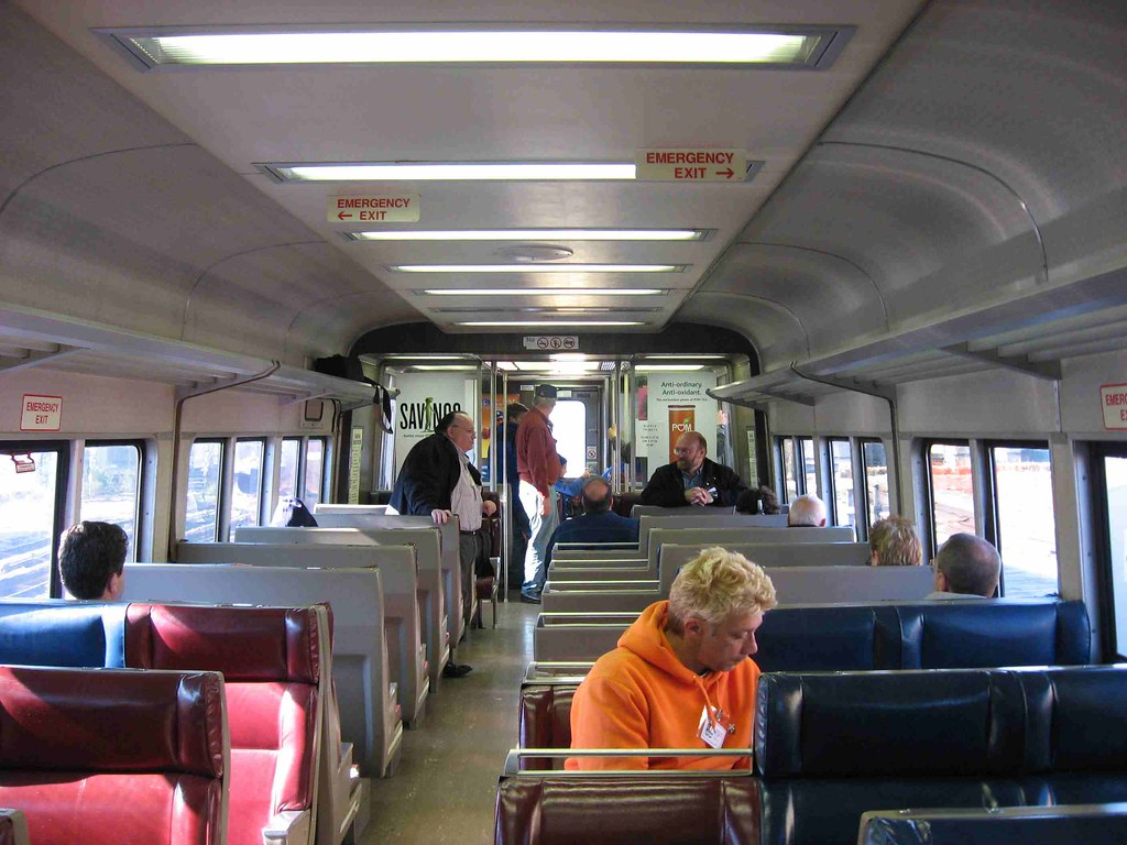 lirr interior of 9609 the trip brought us to an end of
