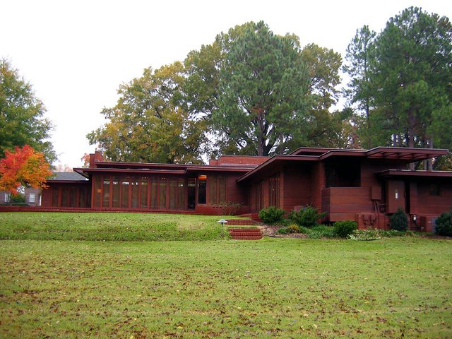 Rosenbaum usonian house frank lloyd wright florence al for Frank lloyd wright house piani gratuiti