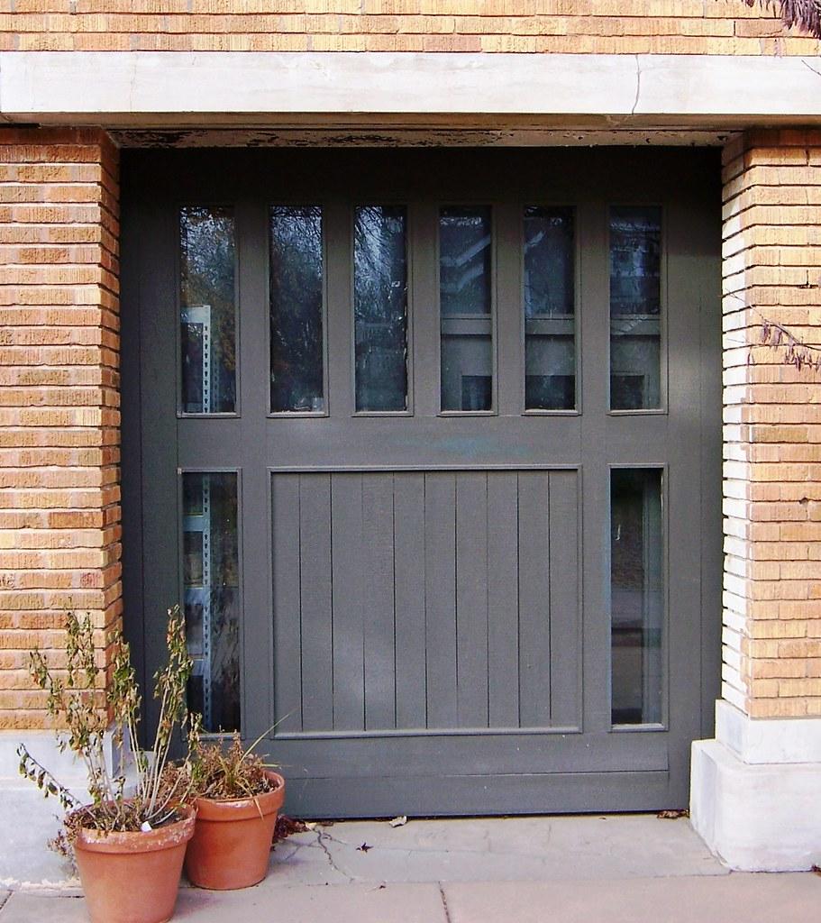 Wichita Ks Allen House Garage Door Designed By Frank Lloy Flickr