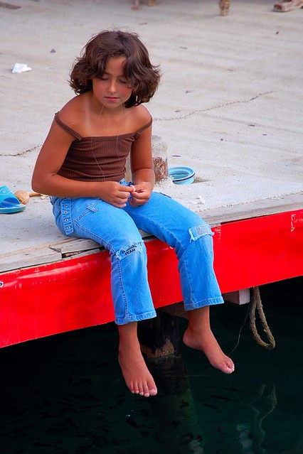 Little Girl Fishing | BBMaui, Selimiye, Turkey. This young g… | Flickr