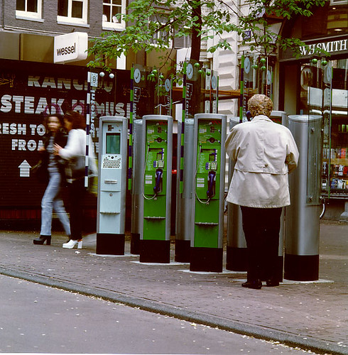 Public telephone booths with Internet booth (1996) | by For Inspiration Only