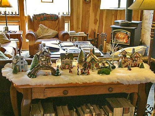 Tabletop christmas village december carol flickr