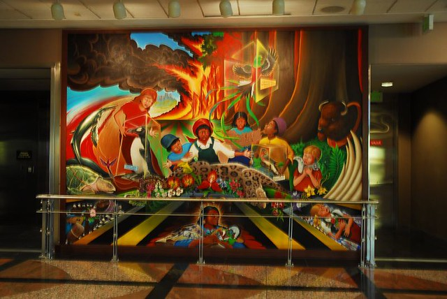 Denver international colorado airport murals for Denver international airport mural