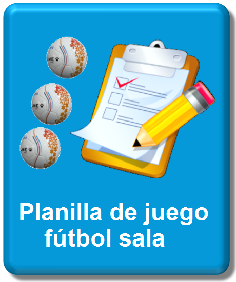 icono planilla oficial fútbol sala