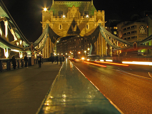 London Tower Bridge at Night with Batman Silhouette | by Dave Marcus