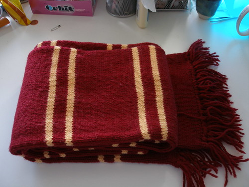 Free Knitting Patterns For Harry Potter Scarves : Harry Potter Gryffindor Scarf (PoA Style) Gryffindor Scarf? Flickr