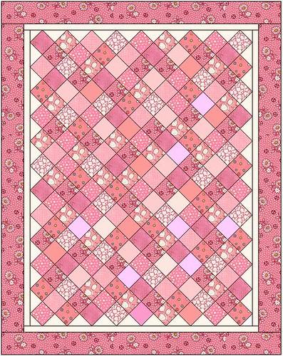 Quilt Pink Squares Lap Quilt Sentimentalstitches Flickr