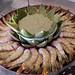 Shrimp Kalbi Sauce with Artichoke Saffron Dip
