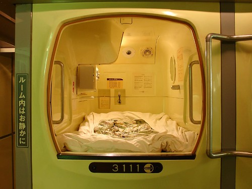 inside a capsule hotel osaka japan all you need for a ni flickr. Black Bedroom Furniture Sets. Home Design Ideas