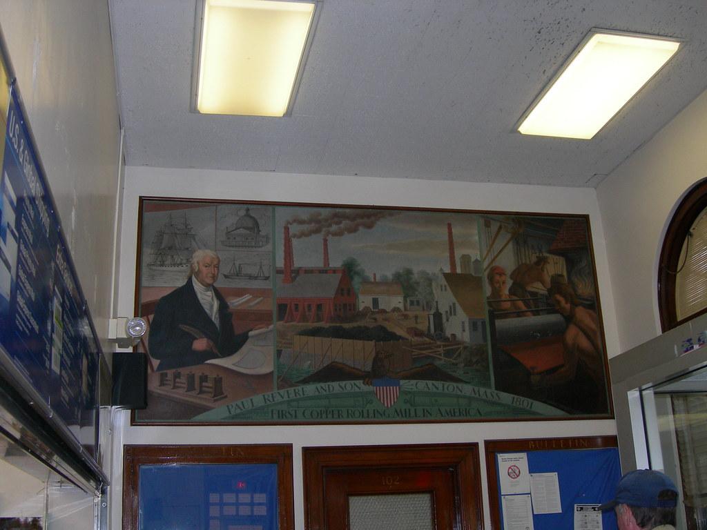 ... Jimmywayne Canton, Massachusetts Post Office Mural | By Jimmywayne
