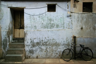 bike, windows, door and steps | by Daveybot