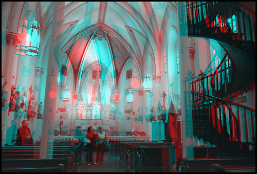 Miraculous Staircase at Loretto Chapel. Santa Fe, NM. *** stereo hyper-stereo anaglyph 3-d | by ZADRO