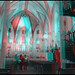 Miraculous Staircase at Loretto Chapel. Santa Fe, NM. *** stereo hyper-stereo anaglyph 3-d