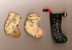 Hand-sewn Christmas stockings | by Ann Althouse