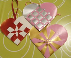 Woven paper hearts | by Carina » Polka & Bloom