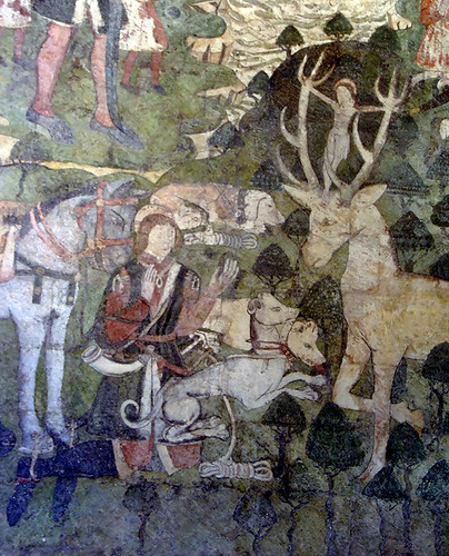 St Eustace Placidus and the stag, 15th century wall pain… Flickr