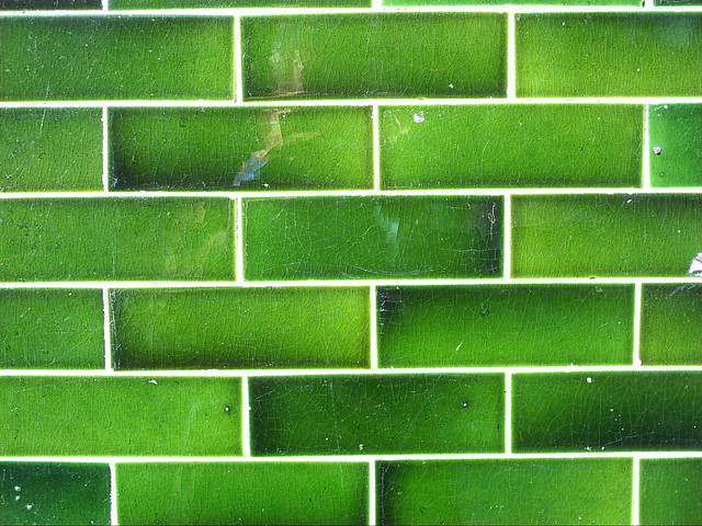Green Tiles Beautiful Green Tiles On A Long Derelict