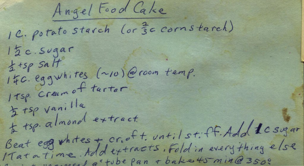 Angle Food Cake And Applie Pie Filling