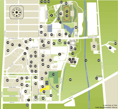 Sfasu Campus Map The Girls Dorm Steen 44 My Family Group Flickr