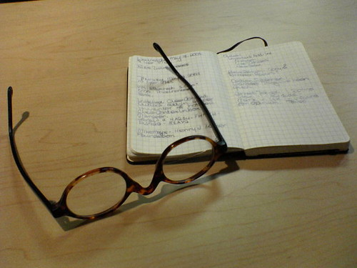 My Moleskine & My Glasses | by bjohnson