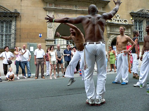 Story in Notes - Capoeira dance during the street parade in Coburgs Samba Festival - P1040963 | by Andreas Helke