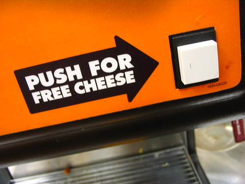 Push For Free Cheese | by Vidiot