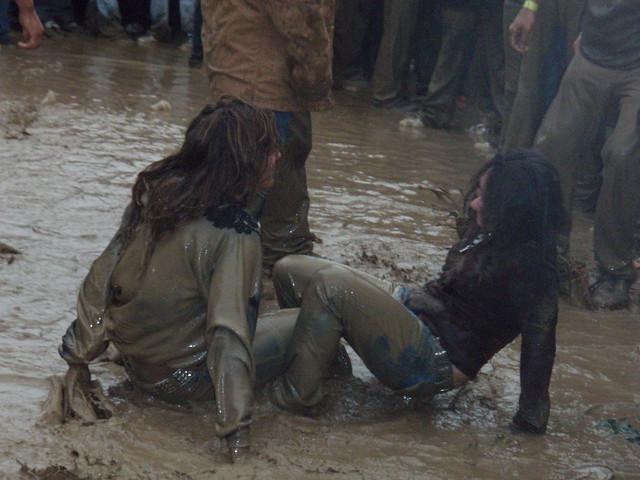 Female Naked Mud Wrestling