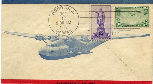 Illustrated Envelope of the China Clipper Airplane