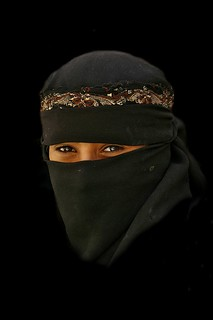 Girl smiling under her veil - Yemen | by Eric Lafforgue