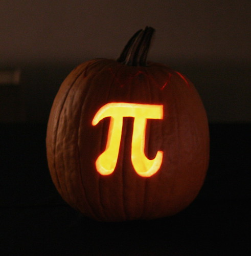 Pumpkin pi you know i had to carve this sooner or later