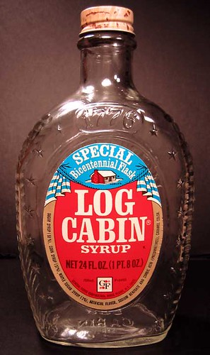 Bicentennial log cabin syrup bottle they put out a