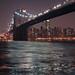 Brooklyn Bridge after dark