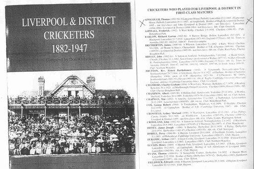 Liverpool & District Cricketers 1882-1947 | by Boobelle