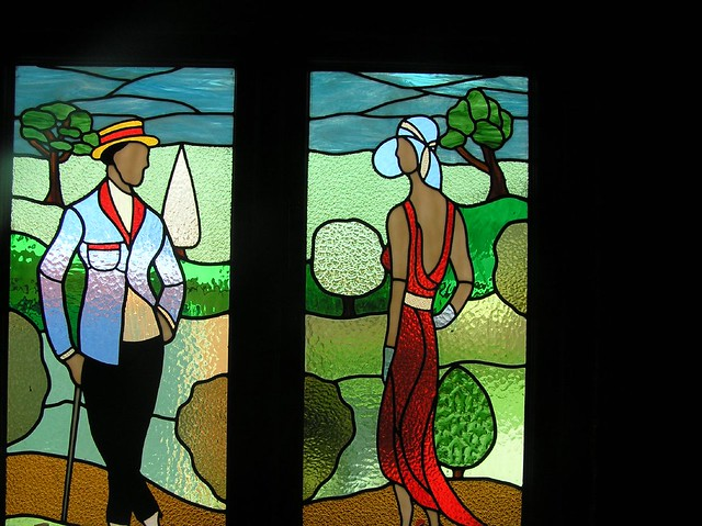 Art deco stained glass@Moyola | Pip & Mik | Flickr