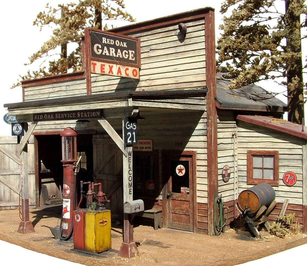 1 48th Scale Country Gas Station Rural Service In