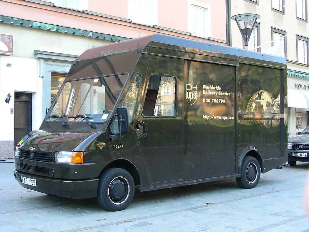 Ups Van Ups Delivery Van On A Volkswagen Chassis So