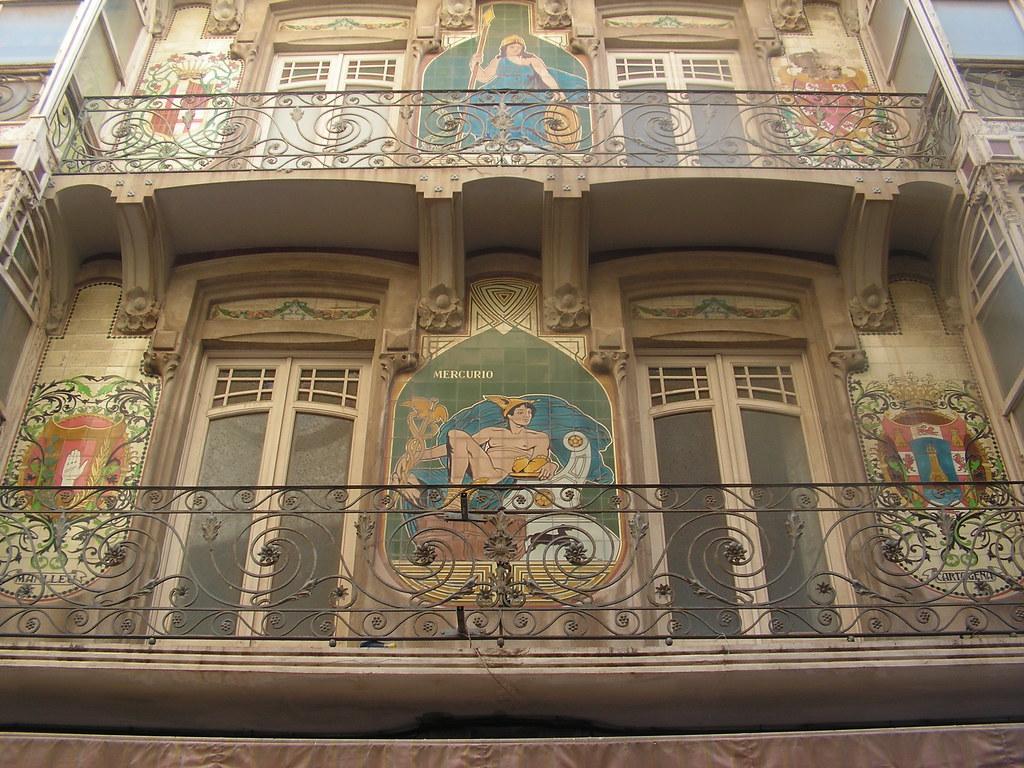 Casa Llagostera : Modernist building in Cartagena, Spain. : John ...