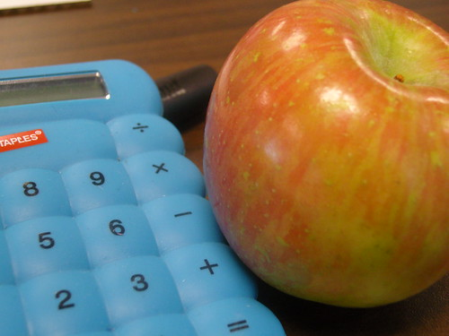 Apple and calculator | by A river runs through