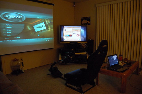 "Our living room with the new 42"" LCD and stand 