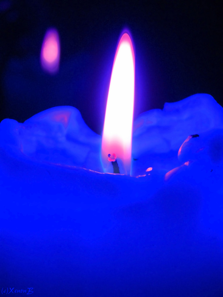Blue candle how far that little candle throws his beams s flickr blue candle by xenonb buycottarizona