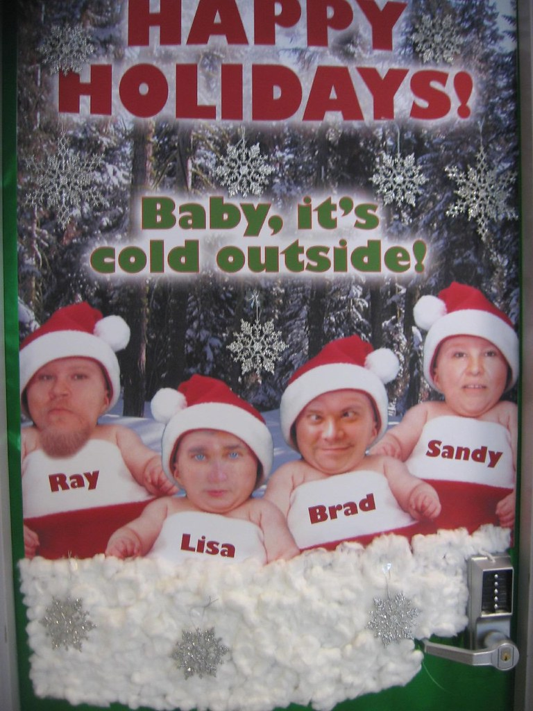 Scary Christmas Office Door Contest Entry A Currell Flickr