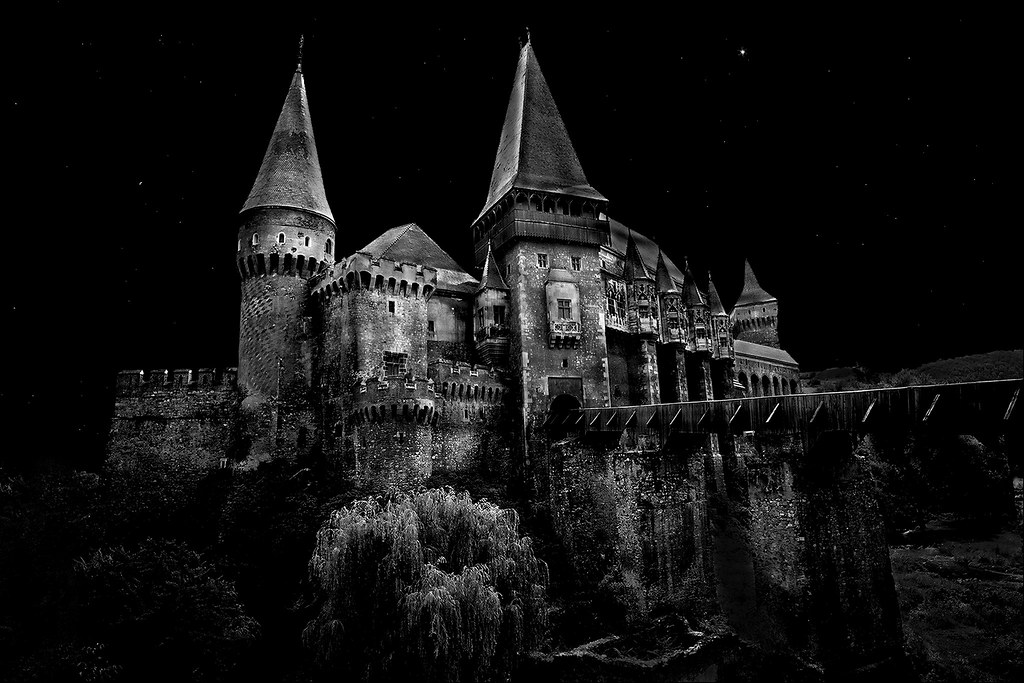 Dracula Castle at Night Castle Dracula