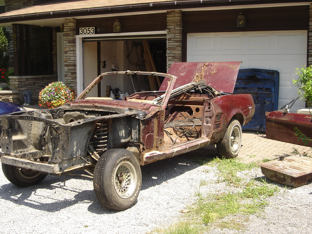 67 Mustang Ragtop Junker | Found this car sitting in the woo… | Flickr