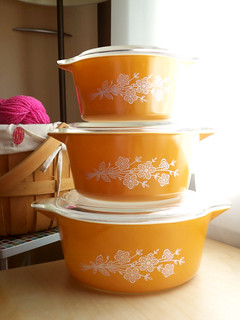Vintage Butterfly Gold Pyrex Bake Set | by ljc@flickr