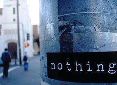 nothing is nothing | by Darwin Bell