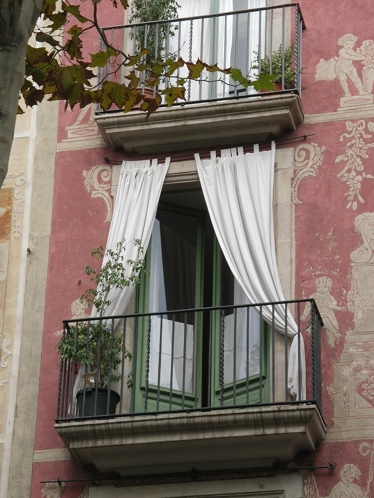 A romantic balcony also called buon fresco true fresco for French balcony